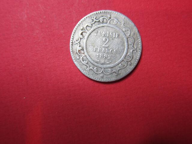Tunisie 2 Francs argent 1892