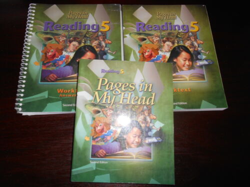 Bob Jones PAGES IN MY HEAD  student set homeschooling BJU 5th grade reading