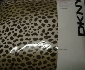 New Dkny Comforter Set Queen 3 P Cheetah Leopard Animal