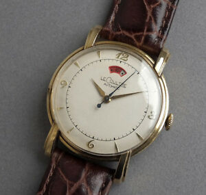 JAEGER-LECOULTRE-POWERMATIC-10K-Gold-Filled-Vintage-Automatic-Watch-1948