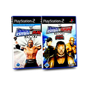 Playstation-2-Jeux-Paquet-Wwe-Smack-Down-Smackdown-vs-Raw-2007-2008-2-Sp