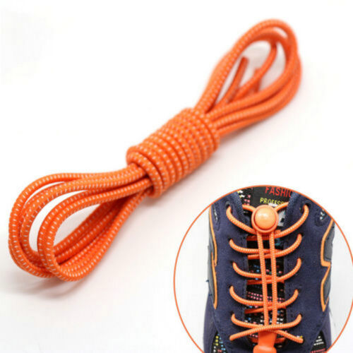 2x Elastic No-Tie Locking Shoelaces Laces With Buckles For Sport Shoes Sneaker