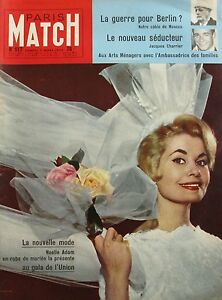 SéRieux Paris Match N°517 - 1959 - Noelle Adam - Arts Ménagers - Lana Turner - Charrier