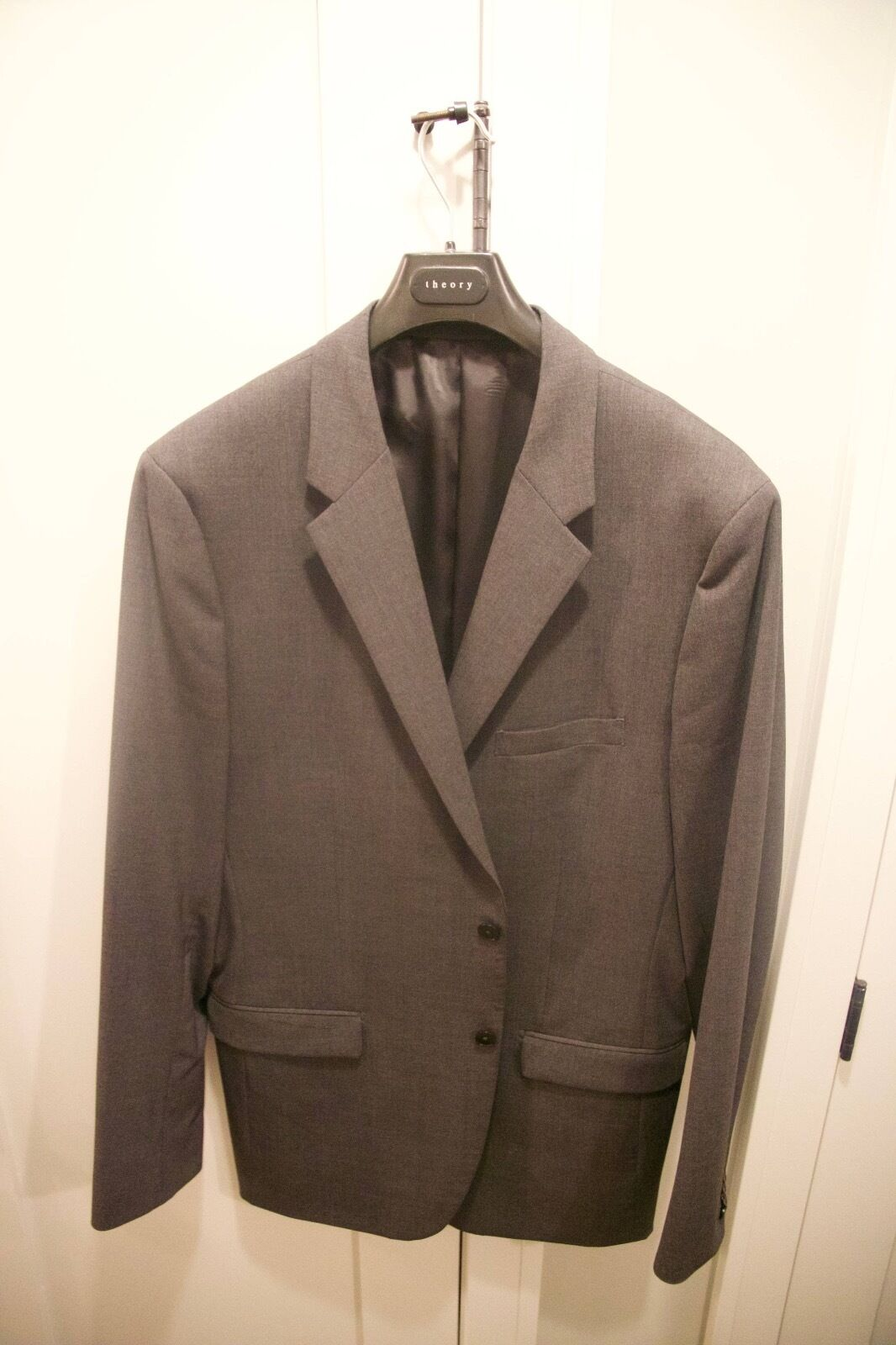Men's Theory Xylo Suit coat Blazer Grey Charcoal 46 L