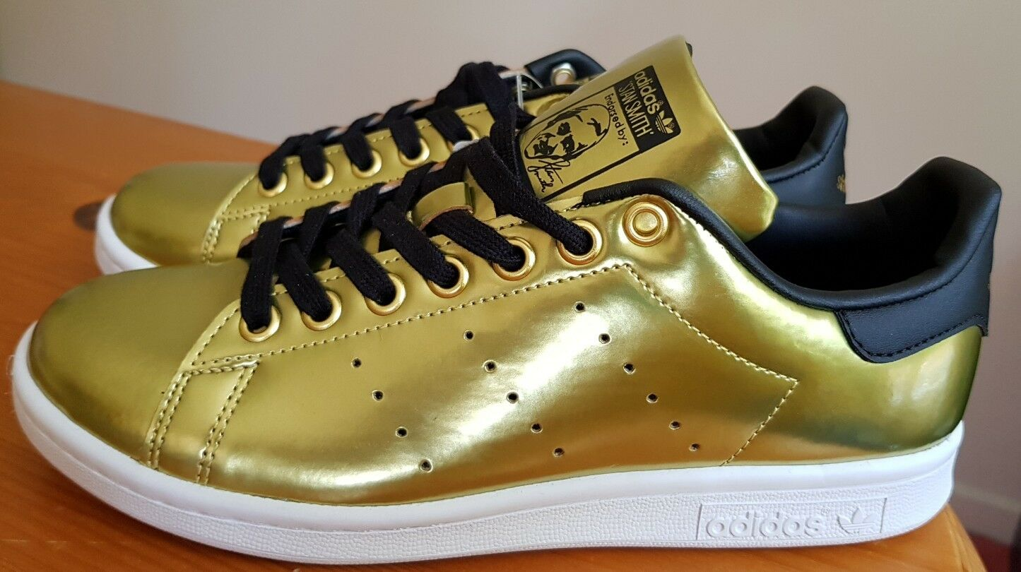 ADIDAS ORIGINALS STAN SMITH METALLIC SIZE GOLD  SIZE METALLIC 5 1/2(EUR 38 2/3 ) BNWT 5c1333