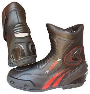 Scarpa-Scarpette-Moto-Stivaletti-Calzatura-039-Sport-Motociclita-Protezione-Sliders