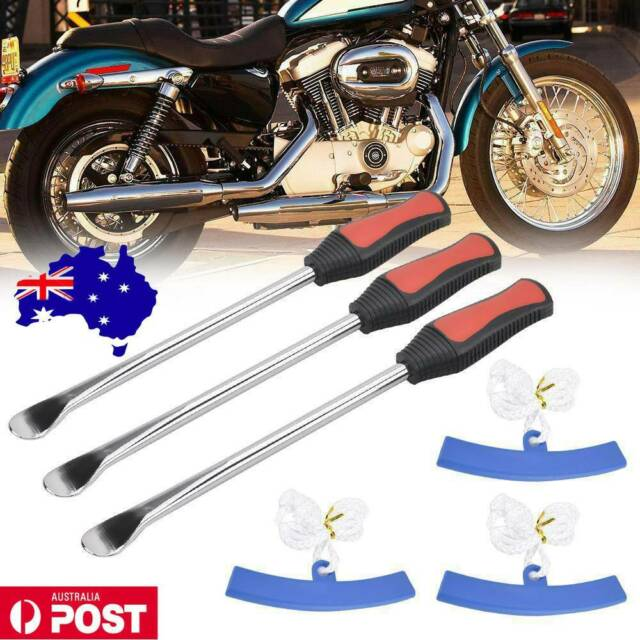3X Tire Irons Spoon Tyre Levers Motorcycle Tool Kits Changer with Rim Protector