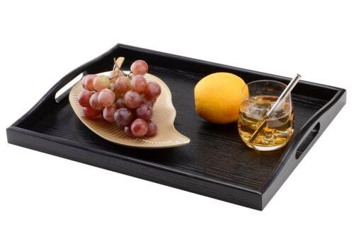 Serving Tray Black Wood Breakfast In Bed Ottoman Tray