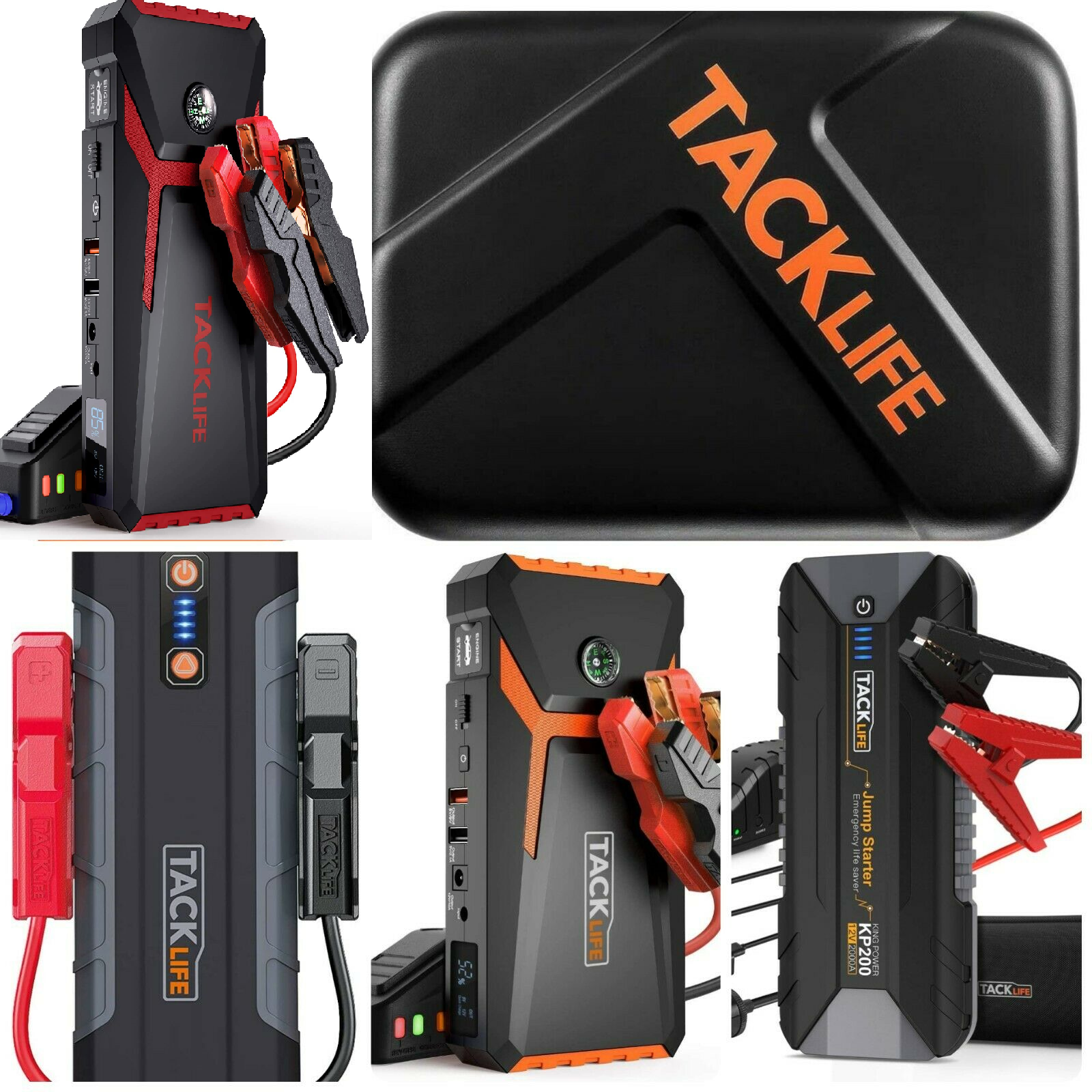⚡ tacklife rugged truck battery booster starter box portable package