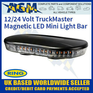 Rcv9822 truckmaster magnetic roof mount mini light flashing led image is loading rcv9822 truckmaster magnetic roof mount mini light flashing aloadofball Image collections