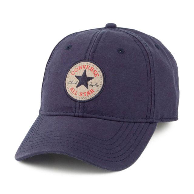 fa254c982f42 Converse Mens Baseball Cap.navy Blue Adjustable Snapback Curved Peak ...