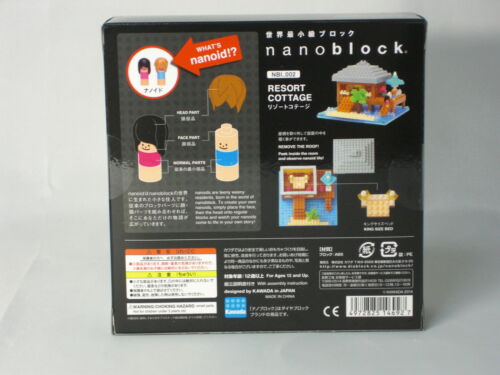 Nanoblock Resort Cottage Kawada Contains nanoids new released over 300 pieces