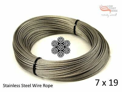 Stainless Steel Wire Rope per 1 Metres of 3mm  7x7  Marine Construction