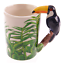 thumbnail 66 - Animal Shaped Handle Ceramic Mug Tea Coffee Cup Novelty Gift Jungle Tropical