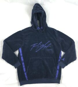 Nike-Air-Jordan-Wings-of-Flight-Sherpa-Hoodie-Navy-Blue-AH6250-416-Men-039-s-S-3XL