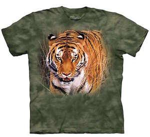Tiger-King-Close-Encounter-Green-Nature-T-Shirt-Mountain-Animal-Jungle-M-3X