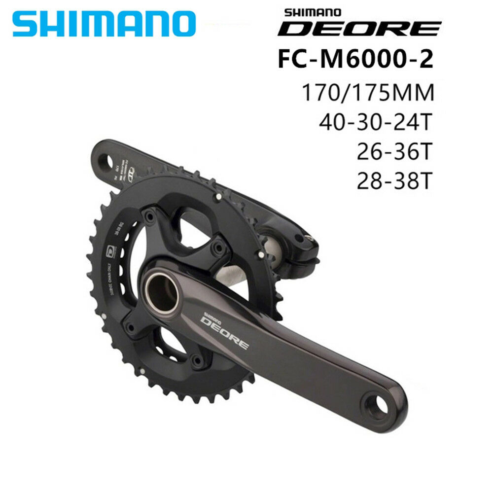 SHIMANO DEORE FC M6000  20S  MTB Crankset 38x28T 170 175mm With BB52  incentive promotionals
