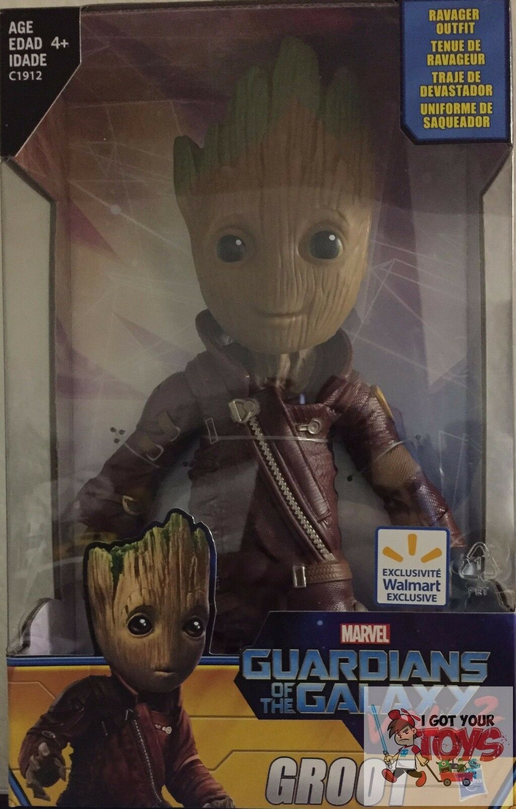 BABY GROOT 'RAVAGER' Hasbro Marvel GUARDIANS OF THE GALAXY Vol 2 9  Inch FIGURE