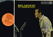 "HARRY BELAFONTE AT CARNEGIE HALL 12"" LP Stereo ROBERT CORMAN Rca 1960 UK SF5050"