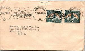South-Africa-1941-Cover-to-NY-Machine-Cancel-Z12790