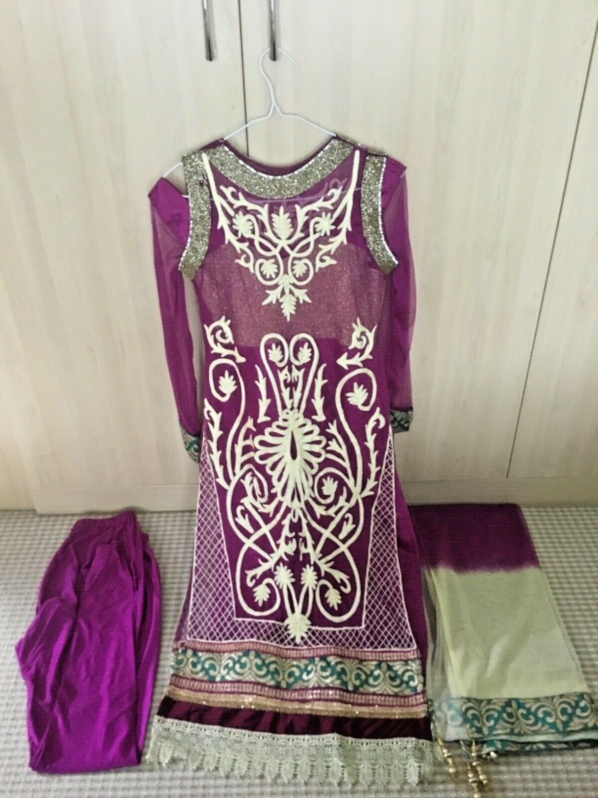 Asian India  Pakistani SANJI Designer Kurti Tunic Long DIAMANTÉ Dress