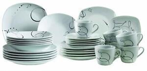 Domestic-921344-Chanson-Tableware-6-Services-30-Parts-Colour-White-and-Black