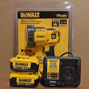 Dewalt Dcl043 20v Jobsite Led Spotlight 2 Dcb204 4ah