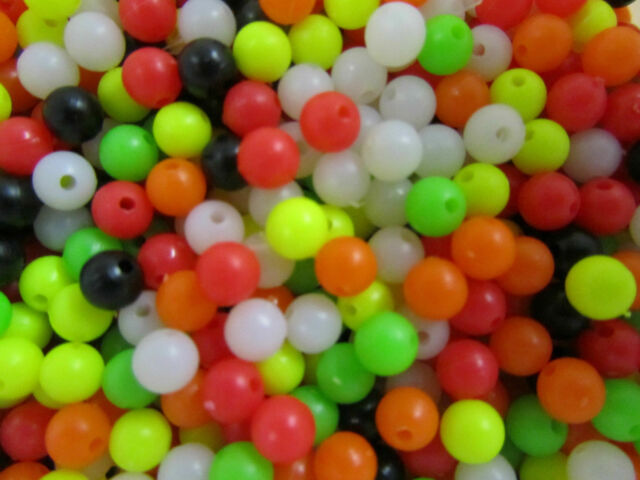 40 Luminous Beads for Free. 200 Pack of Rig Making Beads.100 x 8mm+100 x 6mm