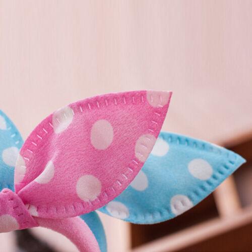 10x Rabbit Ear Hair Holders Hair Accessories Child Girl Women Rubbers*HairBand.
