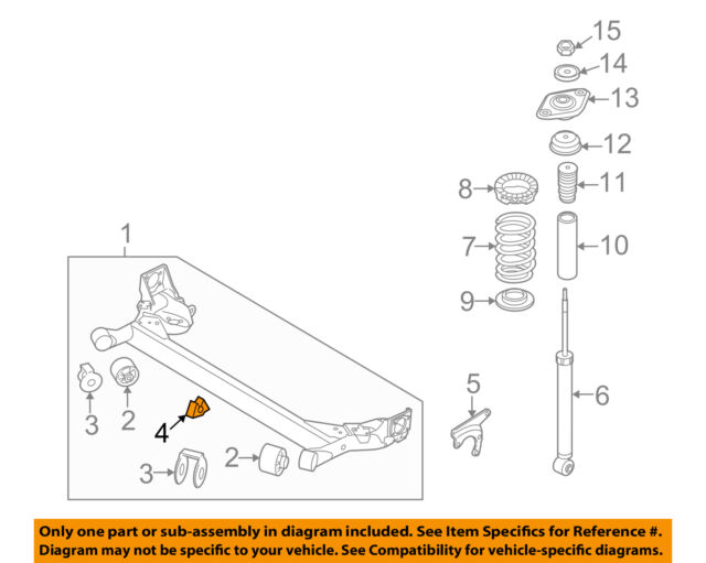 Kia Oem 06 11 Rio Rear Suspension Axle Beam Center Bushing
