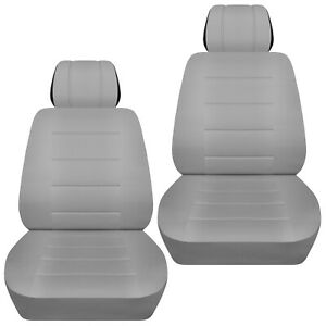 Front set car seat covers fits 2005-2020 Toyota Tacoma     solid silver