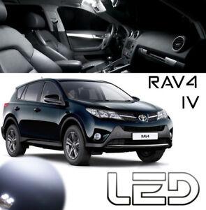 Toyota-RAV4-4-6-Ampoules-LED-Blanc-Habitacle-interieur-plafonnier-Coffre-Miroirs