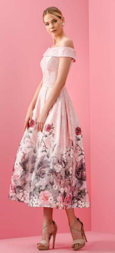 Robe Allure Abito Kleid E Aletta Elegant Ad Elegantes Dress Manica 46 Rosa Pizzo pFwFR6x