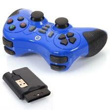 2.4GHz Wireless Vibration Shock Joystick Joypad Gamepad Controller for PC Blue