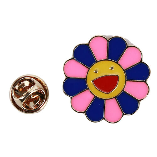 Sunflower Brooch Metal Smiley Boutonniere Badge Scaves jewelry ONE