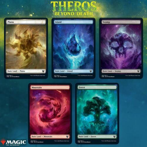 Magic MTG Theros Beyond Death Fullart Basic Land Card Set Standardländer Bundle