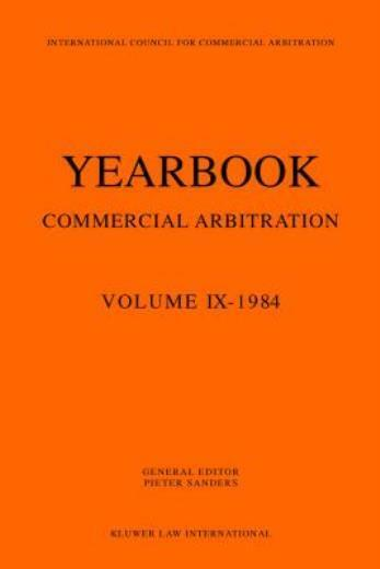 Yearbook Commercial Arbitration Volume Ix - 1984