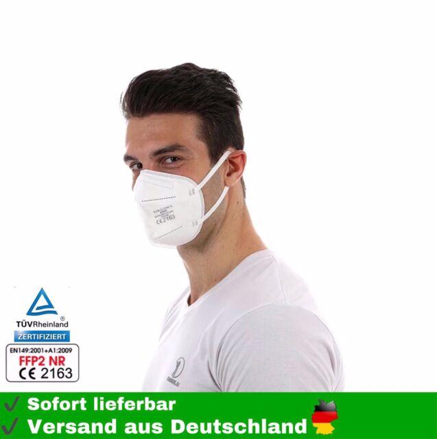 20 x FFP2 Atemschutzmasken Mundschutz 5 lagig CE zertifiziert Maske Mund Nase