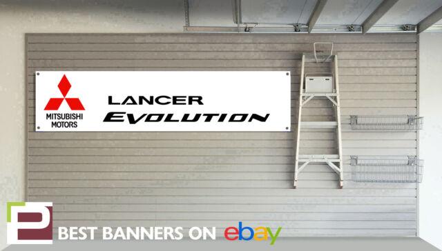 Mitsubishi Lancer Evo Workshop Garage Banner