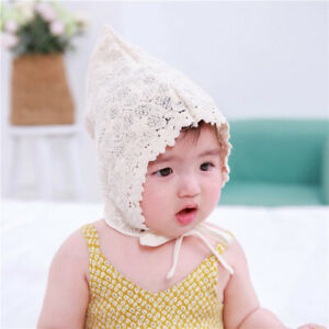 Korean Style Soft Cotton Cap Baby Cute Lace Princess Hat Spring ... 06057be6dd4