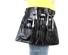 24 Pockets Professional Cosmetic Makeup Brush Apron Bag Artist Belt Strap Holder
