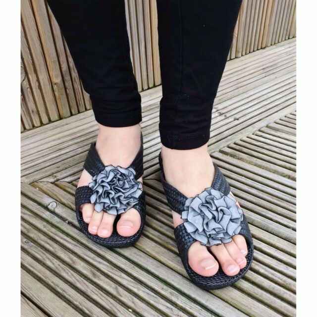 d749b7fcfb9b60 Womens Ladies Anti Slip Slider Slippers Summer Beach Flip Flop Jelly ...
