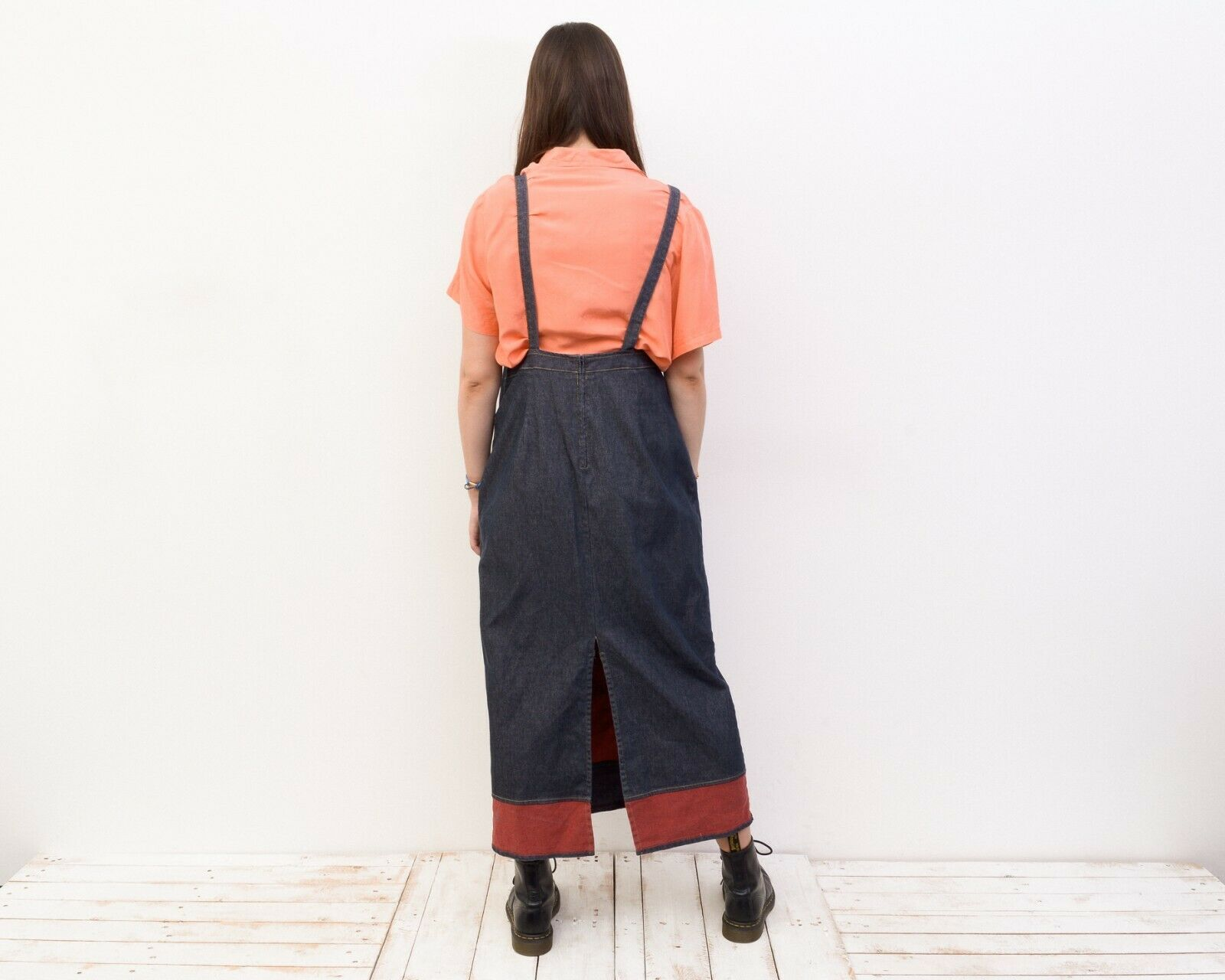 Women's L Denim Dungaree Long Sarafan Dress Summe… - image 5