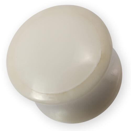 Plug Oreille Corne Noir Tunnel Oreille OS Acrylique Blanc Bijou Piercing
