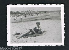 BINZ, altes Foto vintage Photo, Rügen Frau beach woman beautiful lady plage /61