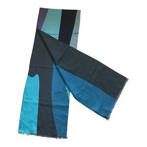 Paul Smith 63% Cotton 37% Silk  Stripe Scarf 180cm x 30cm
