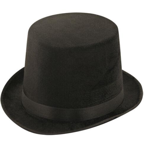 Lincoln Nero Top Hat con nastro di seta H09 580
