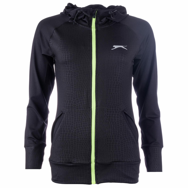 Slazenger Ashford Womens Running Jacket Top Graphic Long Sleeve Full Zip