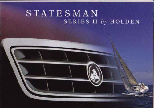 1996 HOLDEN VS STATESMAN SERIES II Prestige 20p Brochure Like CAPRICE COMMODORE