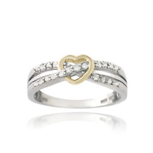 925 silver two tone 1 5ct twist promise